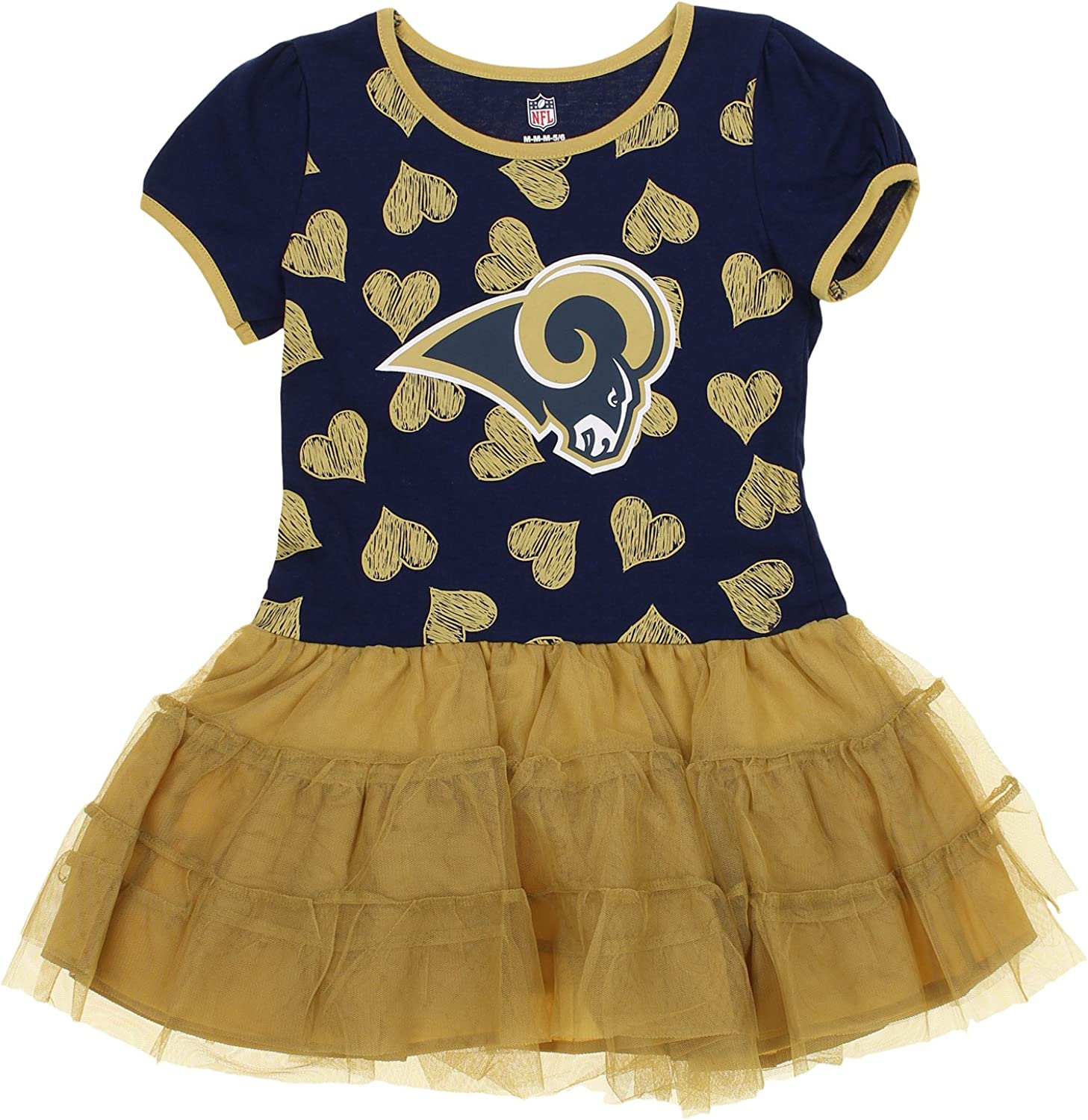 Outerstuff Chicago Bears Girls Long Sleeve Hooded Dress and Pants 2 Piece Set