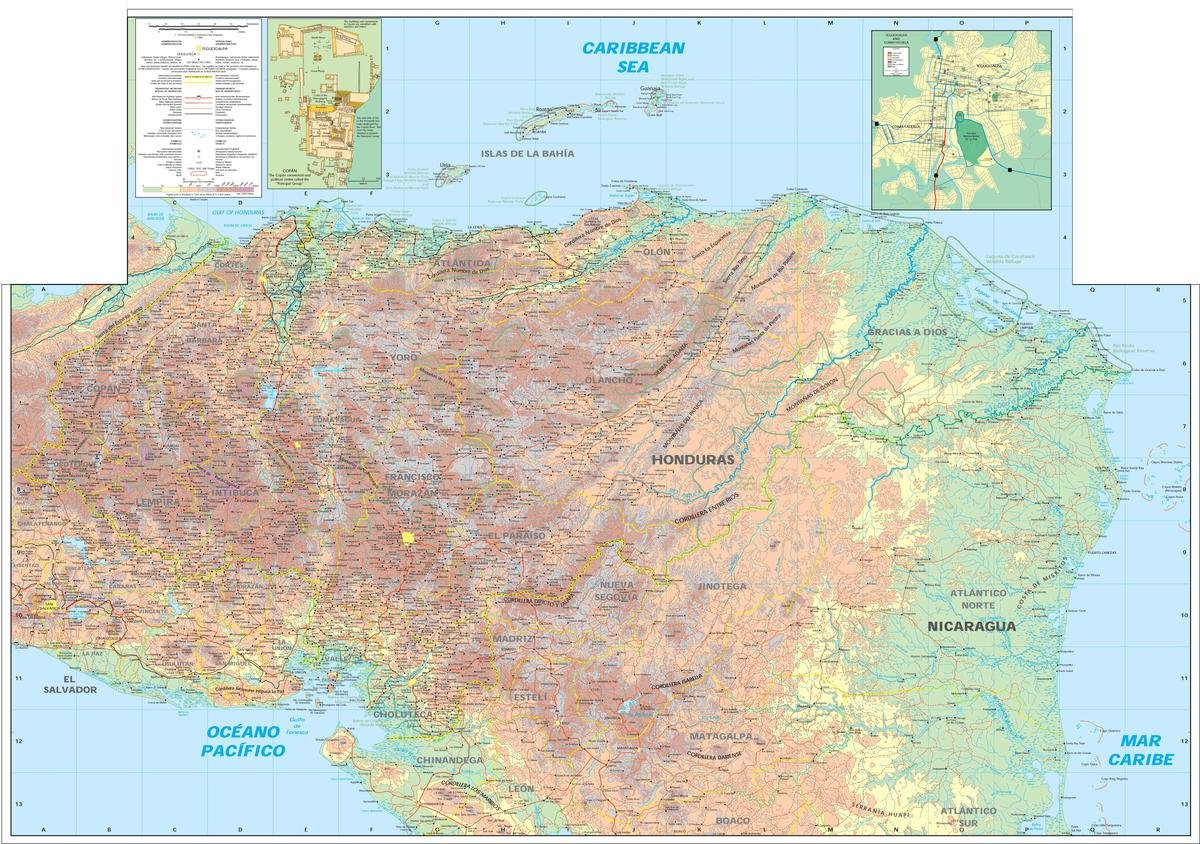 Caribbean Topographic Map.Amazon Com Gifts Delight Laminated 34x24 Poster Large Detailed