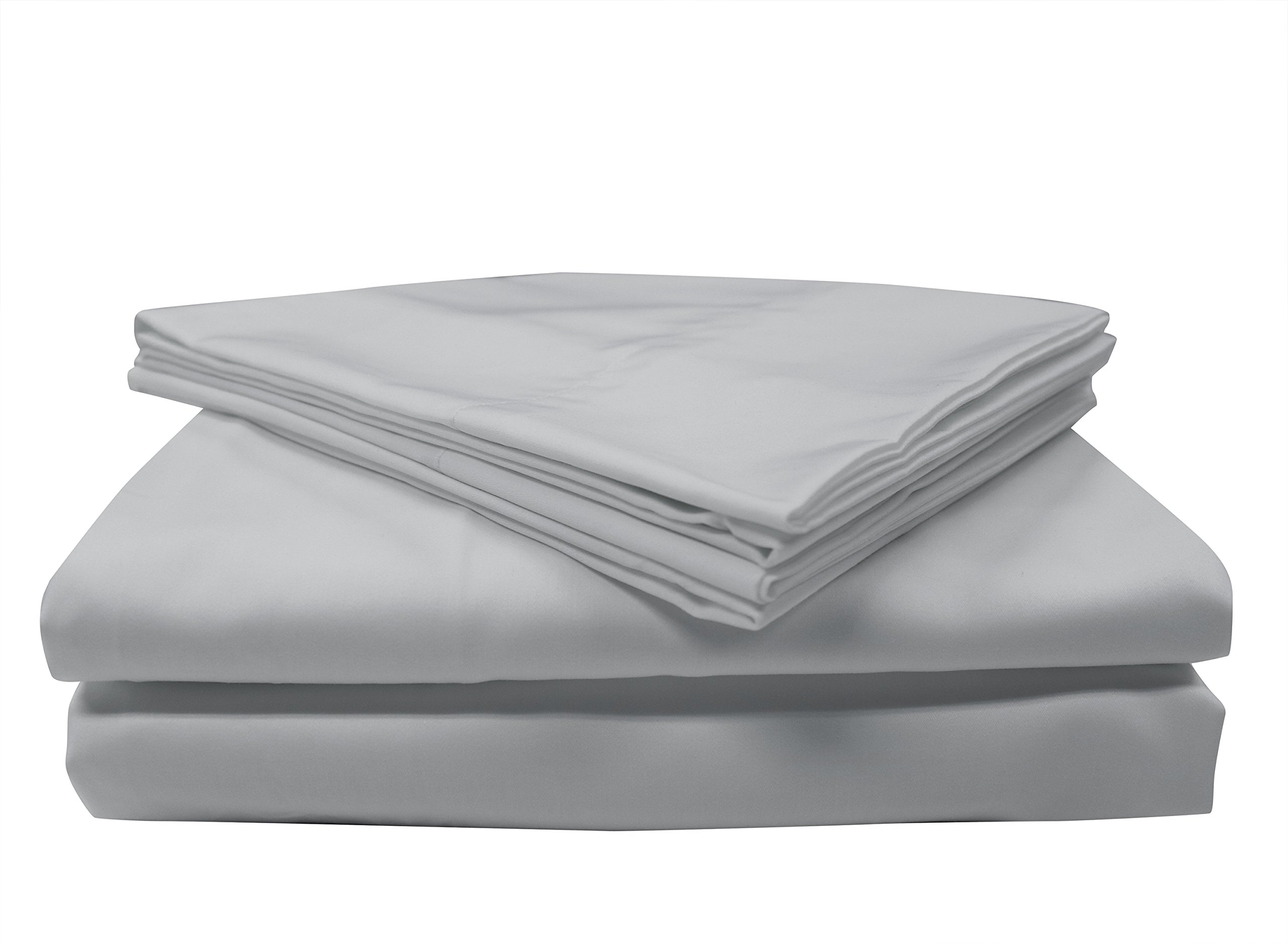 Mytex 400TCCWLCSS 400TC Wrinkle-Less Cotton Plus Coolest Comfort with Nanotechnology Sheet Set King, Silver