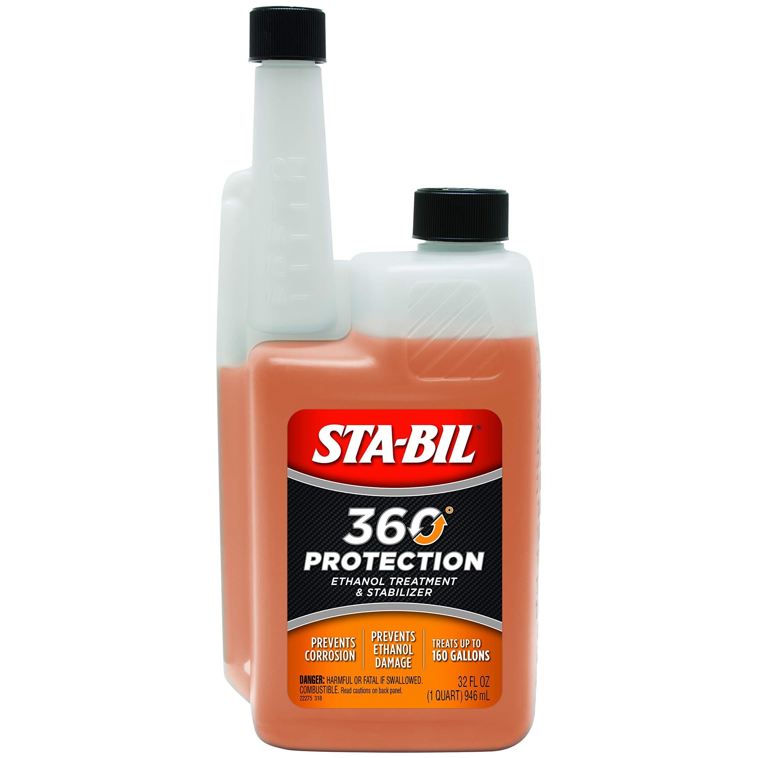 STA-BIL (22275) 360° Performance with Vapor Technology, Fuel Treatment and Stabilizer, 32 Fl. oz