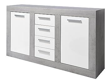 trendteam Wohnzimmer Sideboard Kommode Schrank Pure, 170 x 94 x 40 ...