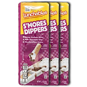 Lunchables Snacks Dunking Snack Packs (3 Pack) Kids On-the-Go Snacks 1.95 Ounce Packs (S'mores Dippers)