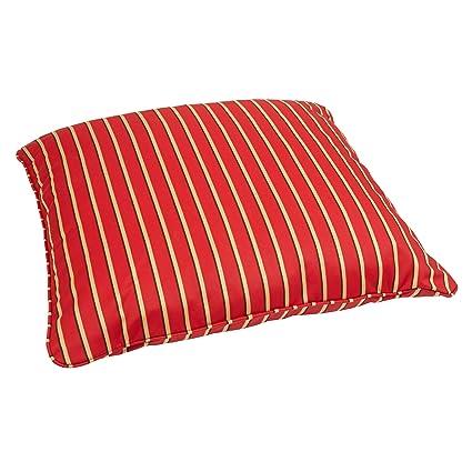 Amazon.com: Mozaic Co.. Red/Gold Stripe - Almohada cuadrada ...