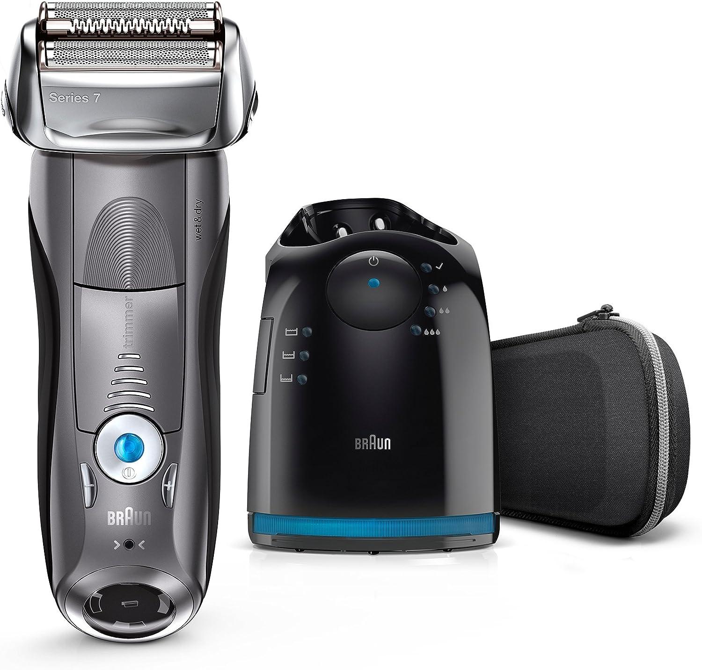 Braun Series 7 7850cc Wet&Dry Papel aluminio Recortadora Gris - Afeitadora (Batería, Papel aluminio, Gris, Carga, Limpieza, Lubricante): Amazon.es: Hogar