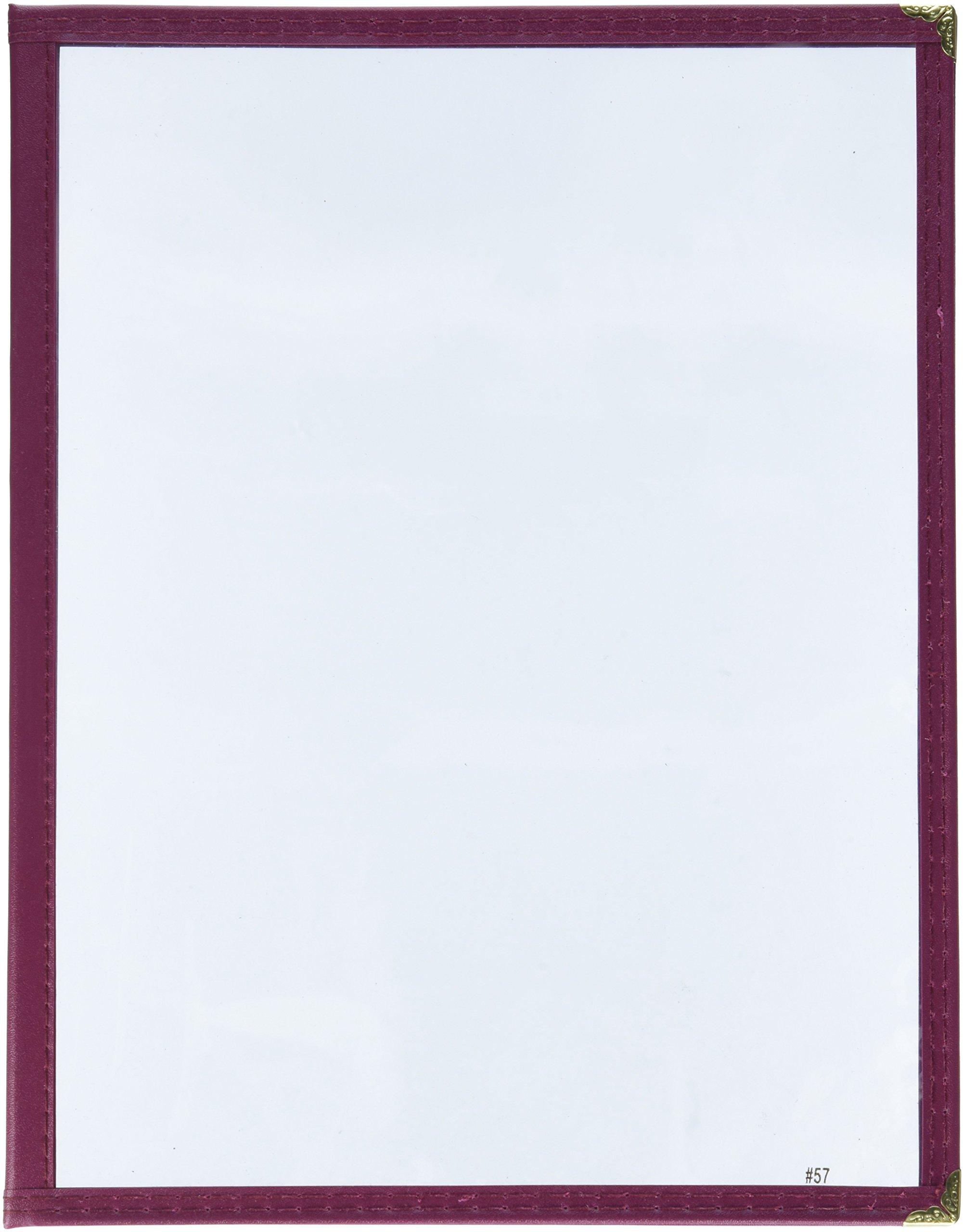Winco Double Fold Menu Cover, 12-Inch x 9.5-Inch, Burgundy