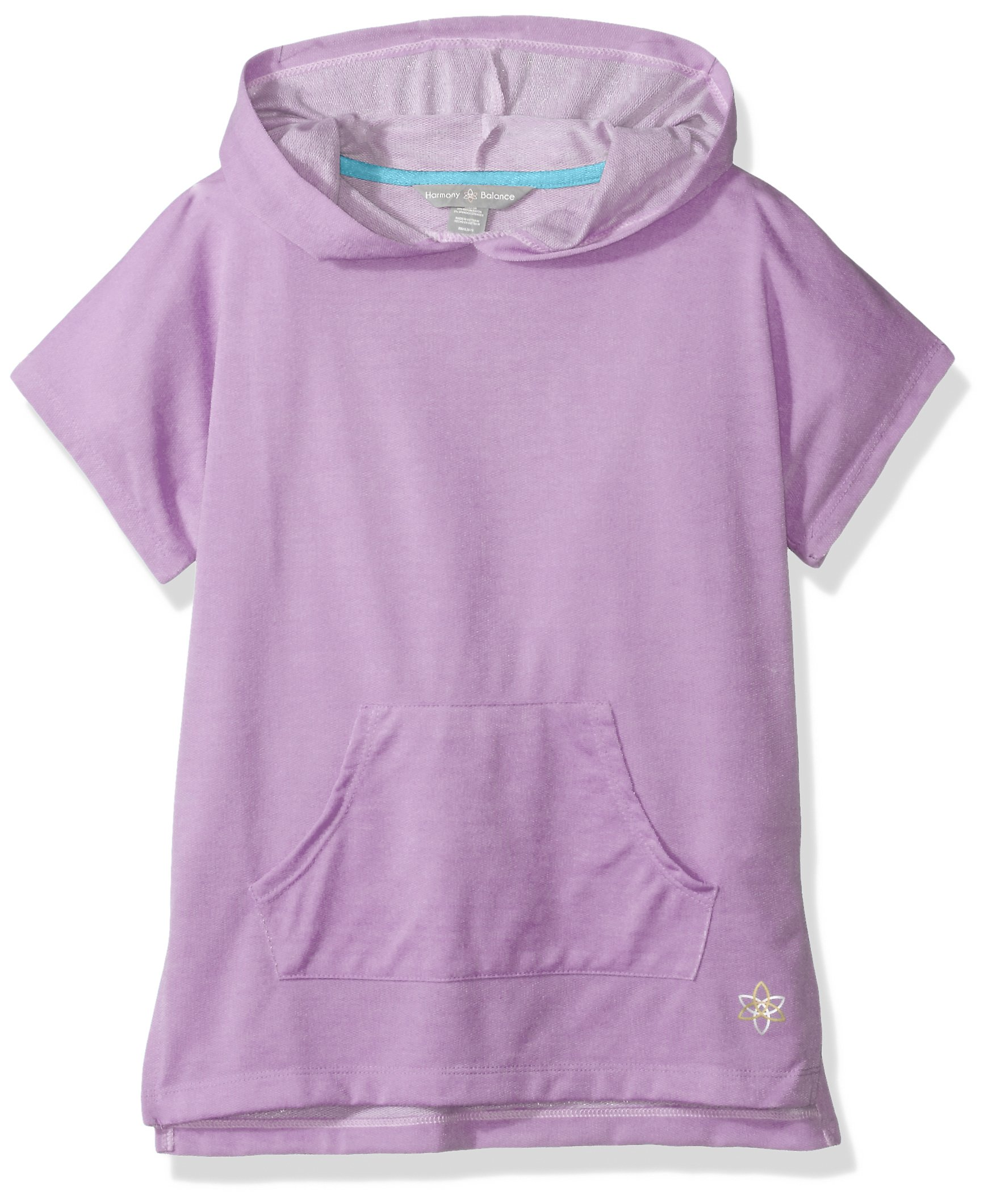 Harmony and Balance Big Girls' French Terry Top, Pearl Lavender, 14/16