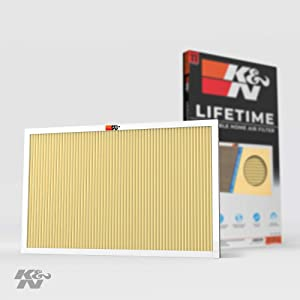 K&N 16x24x1 HVAC Air Filter; Lasts a Lifetime; Washable; Merv 11; Filters Allergies, Pollen, Smoke, Dust, Pet Dander, Mold, Smog, and More; Breathe Cleanly at Home, HVC-11624