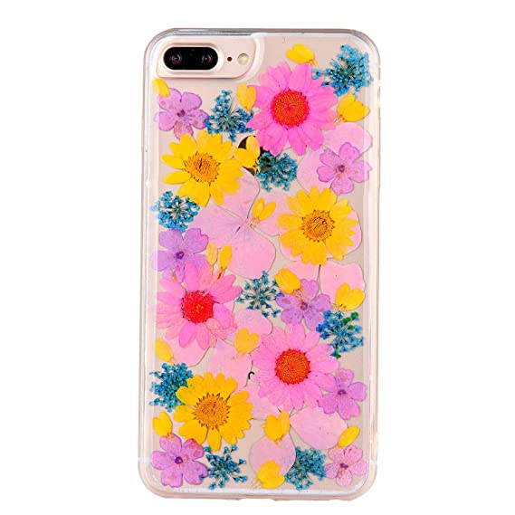 Amazon pretty flower case for iphone 7 plus tipfly iphone 8 pretty flower case for iphone 7 plus tipfly iphone 8 plus real pressed dry flowers mightylinksfo