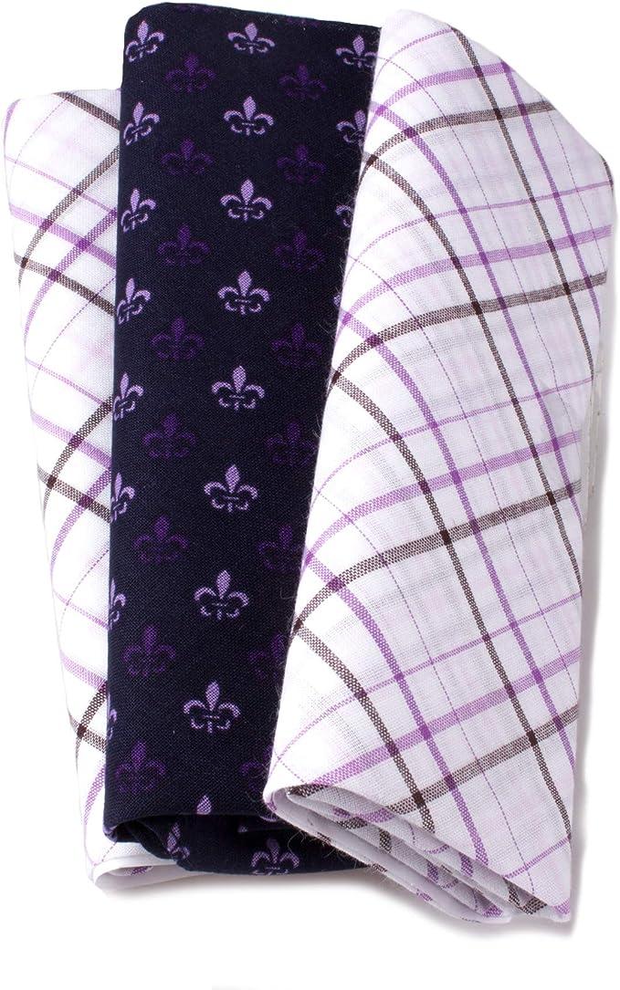 6X Vintage Men/'s Handkerchiefs Cotton Assorted Pocket Square Handkerchief Set