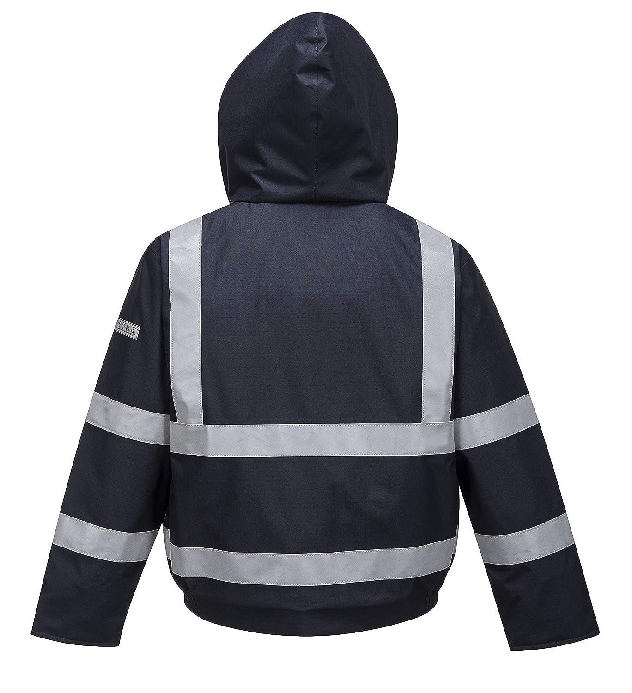 bf66e1398555 Amazon.com  Portwest Bizflame Bomber Jacket Hi Vis Viz Safety Work  Protection Flame Resistant Navy  Clothing