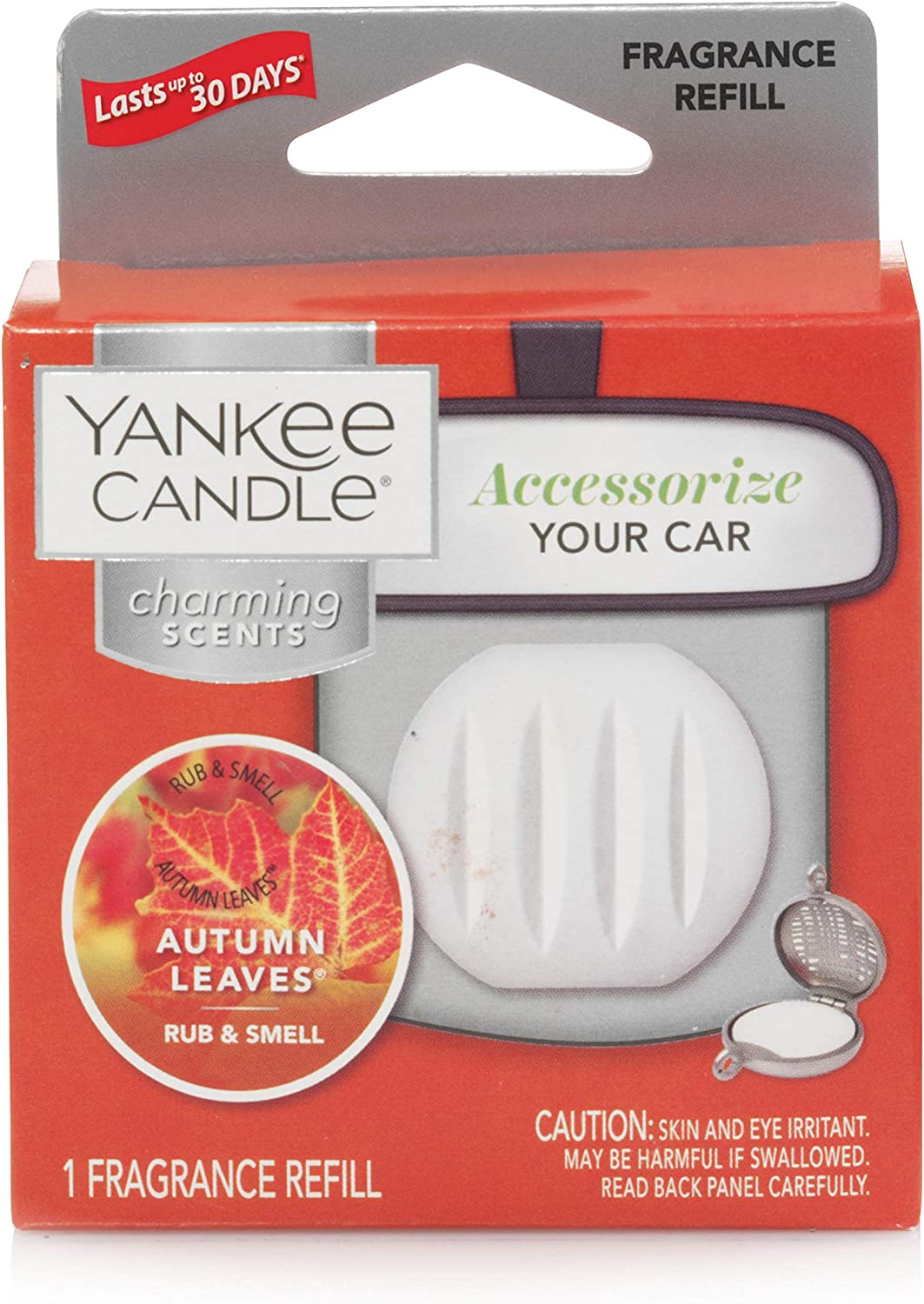 Yankee Candle Charming Scents Car Air Freshener Refill, Autumn Leaves