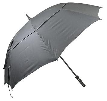 """Longridge Deluxe - Paraguas resistente al viento para golf negro negro Talla:60"""" ..."""