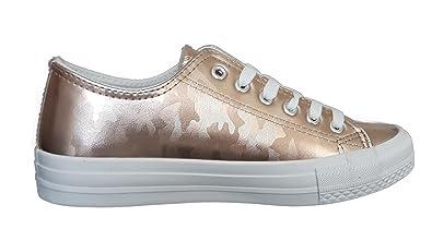 48f43d3409e833 Hailys Sneaker Low Rosa Rose-Gold Platform Damen-Schuhe Sneakers Größe 36-41
