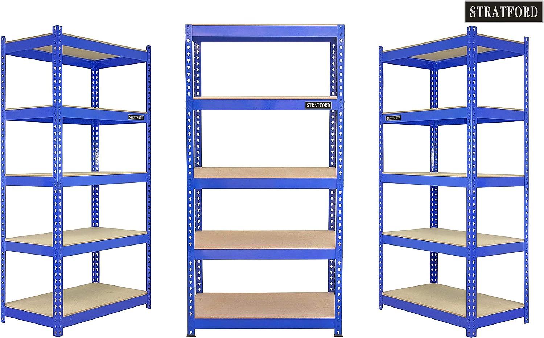 5-stufigen Metallregalregal-Lagereinheiten Rack Garage Warehouse Unit/… 150 cm hohen Packung mit 3 STRATFORD /™ 210 cm breiten