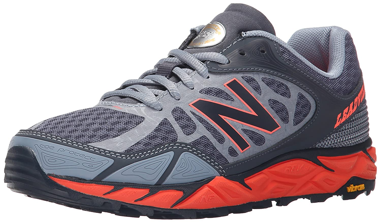 New Balance Women's Leadville V3 Trail Running Shoe B00Z7JILTG 5 D US|Grey/Orange