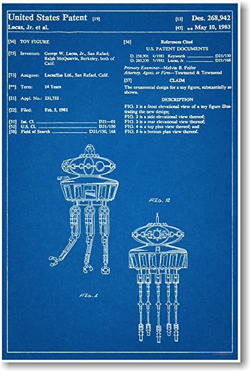 Star Wars Max Rebo Patent NEW Invention Patent Movie Art POSTER