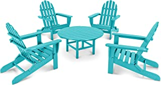 product image for POLYWOOD PWS119-1-AR Classic Adirondack 5-Piece Conversation Set, Aruba