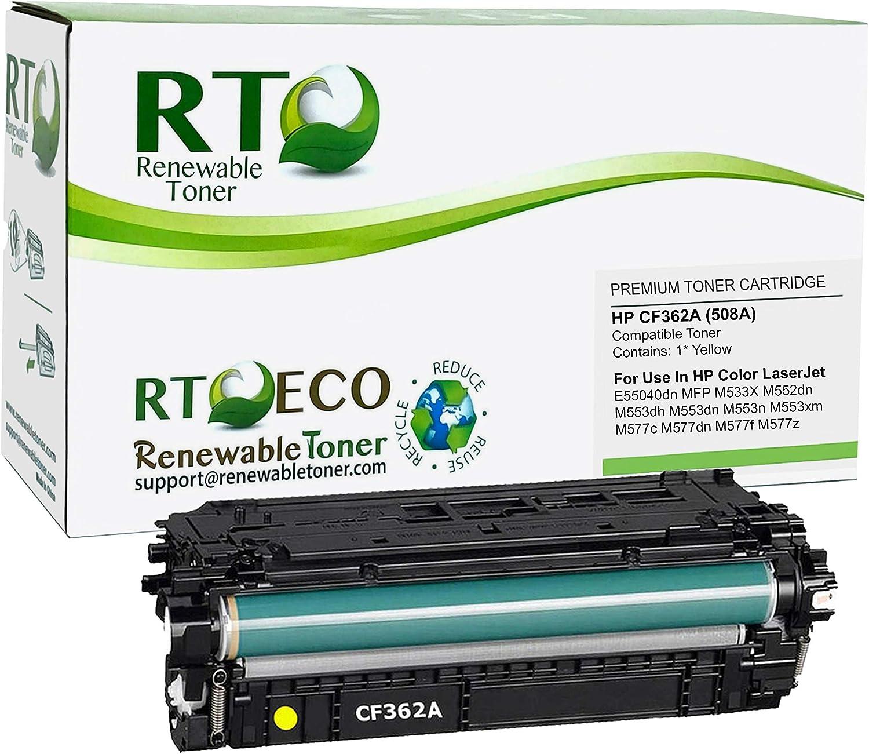 Renewable Toner Compatible Toner Cartridge Replacement for HP 508A CF362A Enterprise MFP M577 M553 (Yellow)