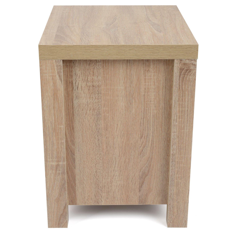 drawer oak effect bedside cabinet white wood modern bedroom  -  drawer oak effect bedside cabinet white wood modern bedroom tablefurniture amazoncouk kitchen  home