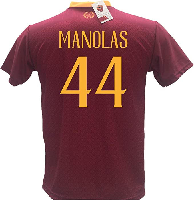 Camiseta de fútbol Manolas 44 Roma réplica autorizada 2018-2019 Niño (Tallas 2 4 6 8 10 12) Adulto (S M L XL): Amazon.es: Deportes y aire libre