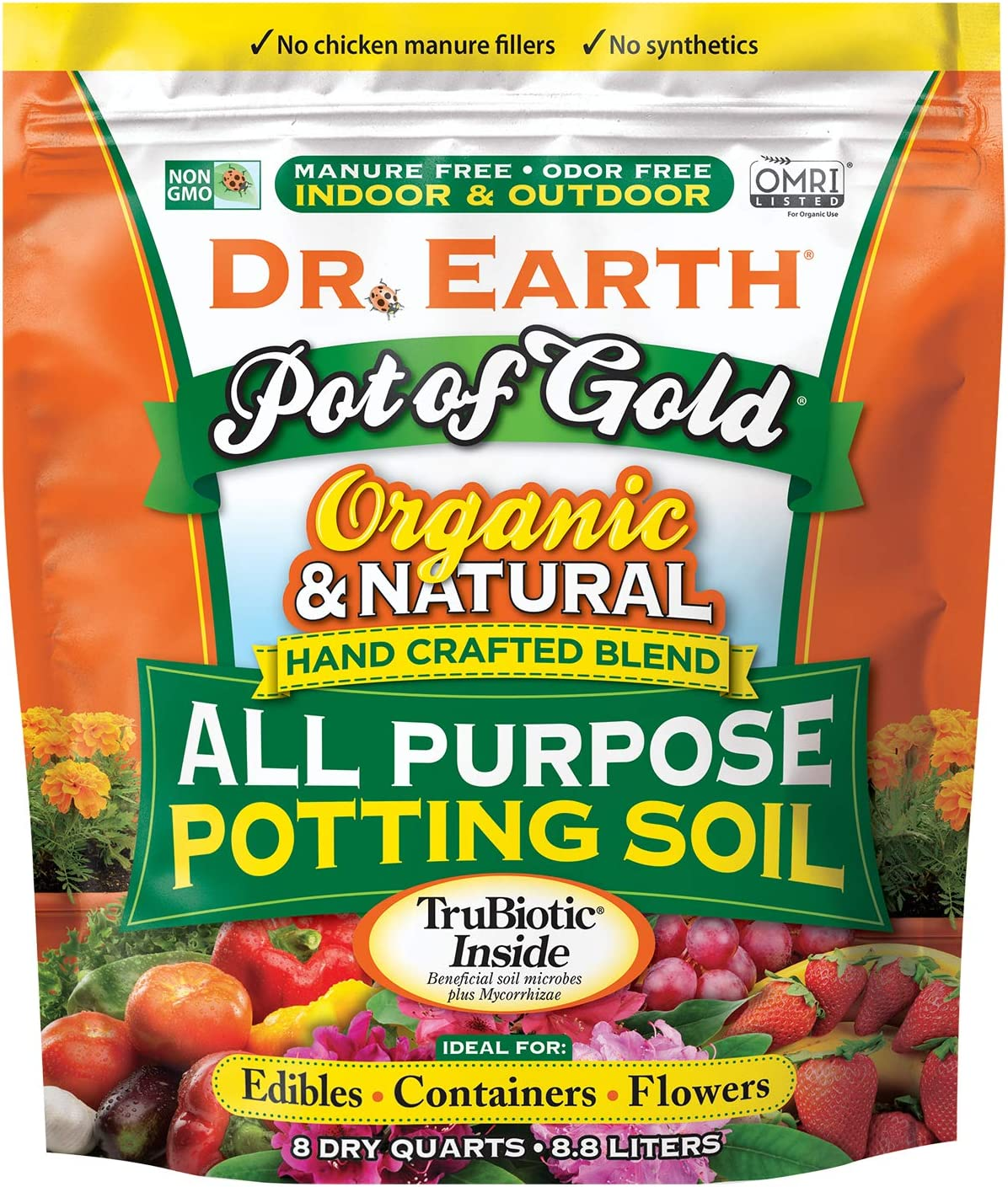 Dr. Earth Pot of Gold All Purpose Potting Soil 8 qt