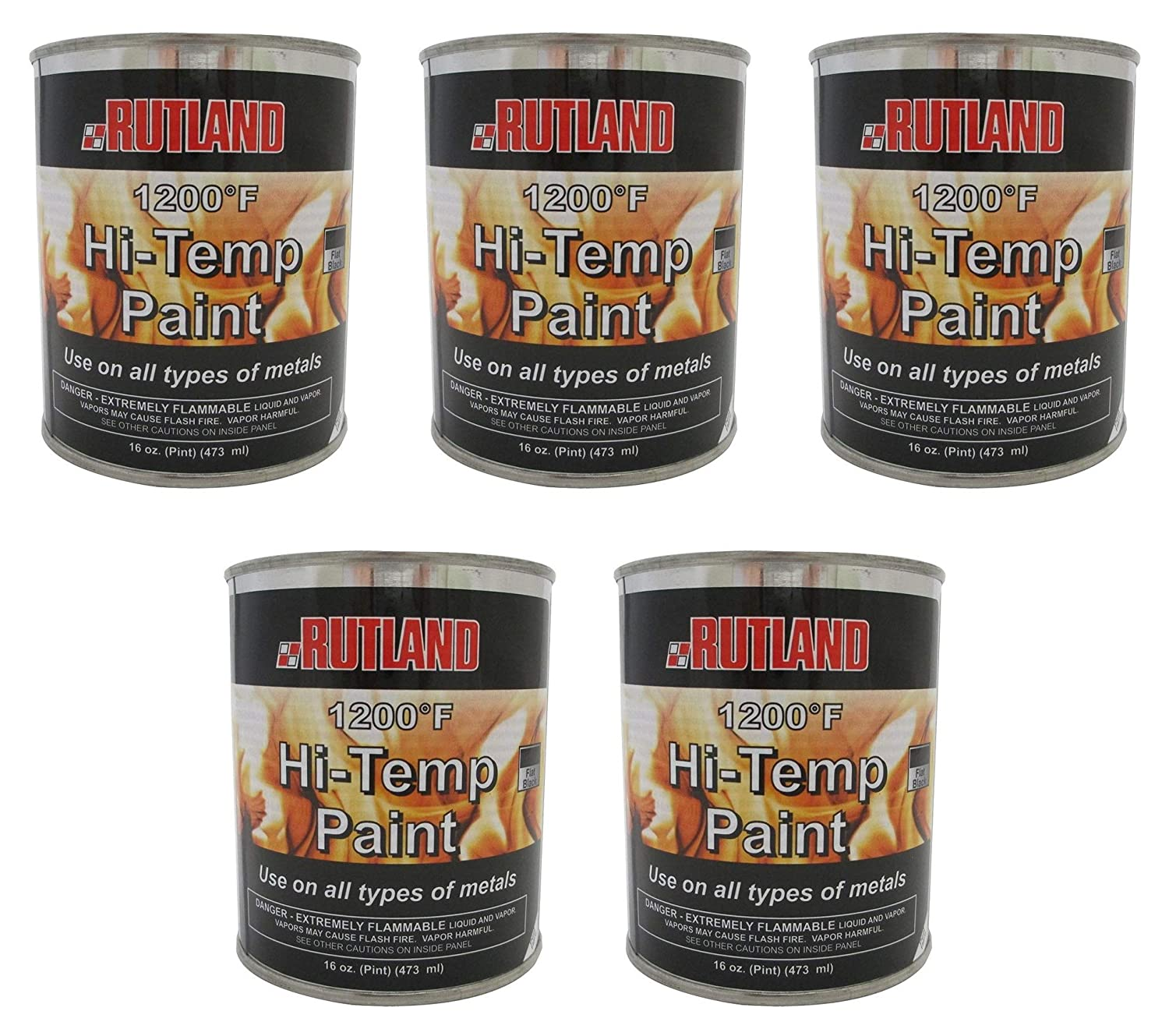 Cool Rutland Products Rutland 1200 Degree F Brush On Flat Stove Paint 16 Fluid Ounce Black Home Interior And Landscaping Ologienasavecom