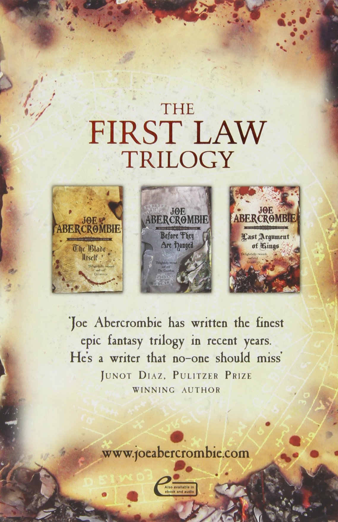 First Law Trilogy Boxed Set The Blade Itself, Before They Are Hanged, Last  Argument Of Kings: Joe Abercrombie: 9780575092969: Amazon: Books