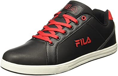 Men's Sneakers Fila Eu11005400 Trout Blackred Ukindia44 10 wPkZ8nN0OX