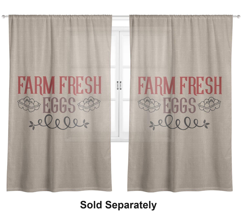 Amazon.com: RNK Shops Farm Quotes Sheer Curtain - 50