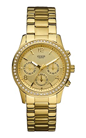 W16567l1Amazon Quarz Edelstahl Chronograph Damen Armbanduhr Guess j354LRA