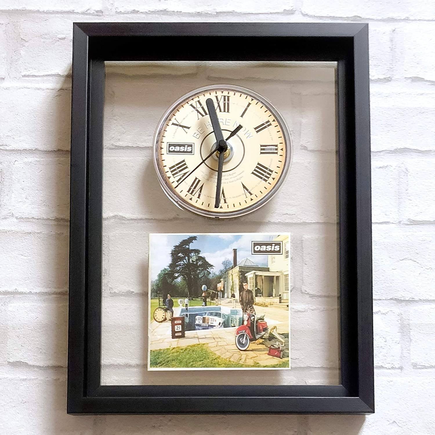 FRAMED CD ART CLOCK//Exclusive Design Whats the Story OASIS Morning Glory?
