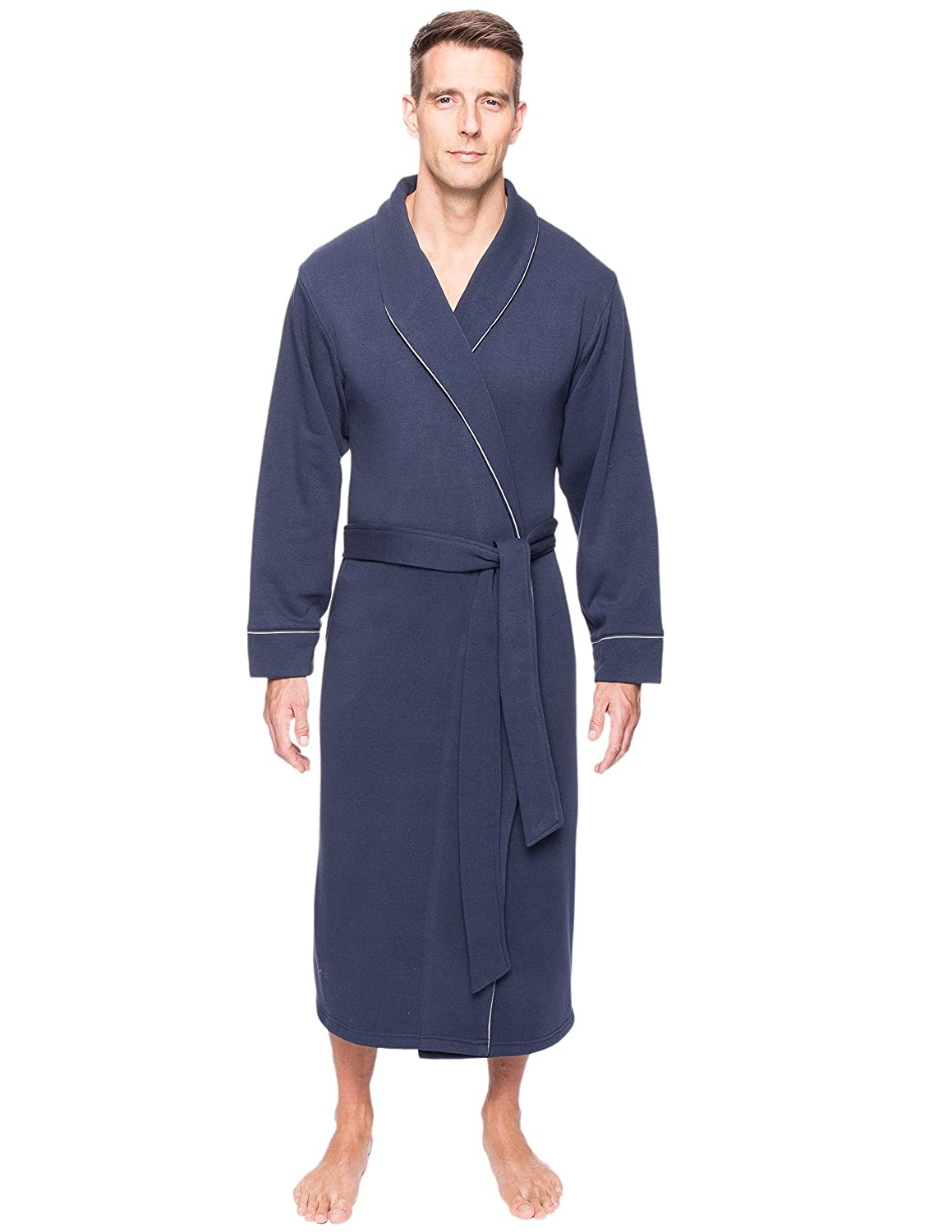 Noble Mount Men's Fleece Lined French Terry Robe