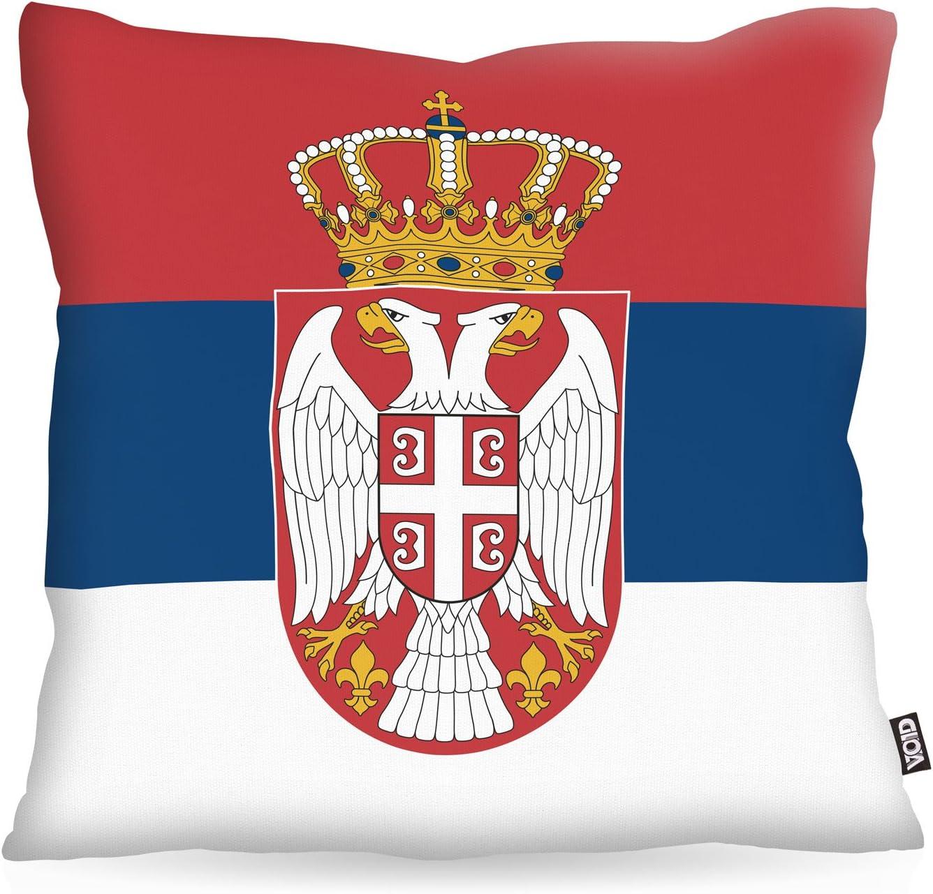 VOID poliéster almohada de Serbia Bandera de Fan funda de cojín (exterior Indoor Multicolor, poliéster, 50 x 50 cm: Amazon.es: Hogar