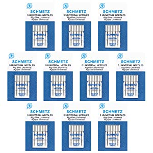 50 Schmetz Universal Sewing Machine Needles -size80/12- Box of10 cards