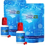 Strong Eyelash Extension Glue SKY S+ 5ml/5ml+5ml/10ml 1-2 Sec Drying Time / 7-8 Weeks Retention/Black Professional Eyelash Extension Adhesive/Lash Extension Supplies (5g+5g (2 Bottle))