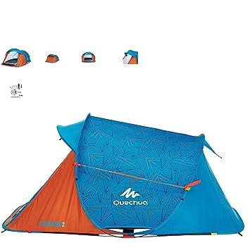 Quechua surgir 2 hombres carpa azul y naranja fácil: Amazon.es: Deportes y aire libre