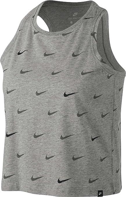 e0fe54053d04 Amazon.com  Nike Women s Sportswear Swoosh Crop Tank Top  Sports ...
