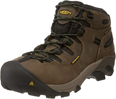 71bd98a730 KEEN Utility Men's Detroit Mid Steel Toe Work Boot,Brindle,7.5 EE US