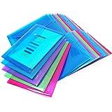 Rapesco 1498 färgade genomskinliga dokumentmappar A5 samlarmappar (25 stycken) olika färger
