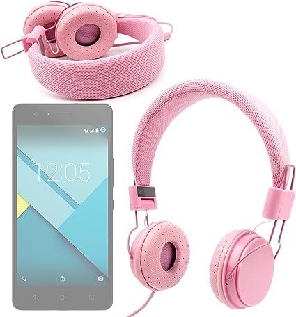 DURAGADGET Auriculares De Diadema Color Rosa para BQ Aquaris X5 ...