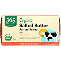 365 by Whole Foods Market, Organic Pasture-Raised Butter, Salted, 16 Ounce