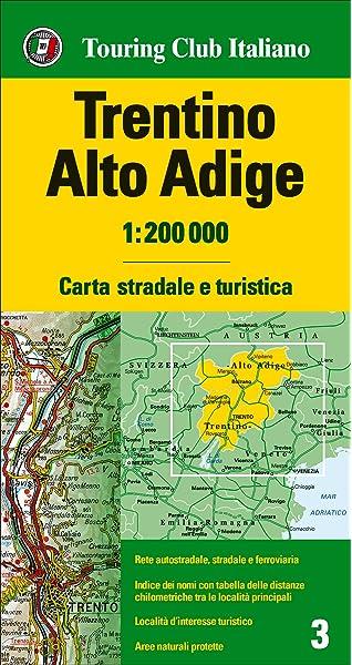 Trentino, Alto Adigio 1:200.000 mapa de carreteras impermeable Touring Club Italiano. Carte regionali 1:200.000: Amazon.es: VV.AA.: Libros