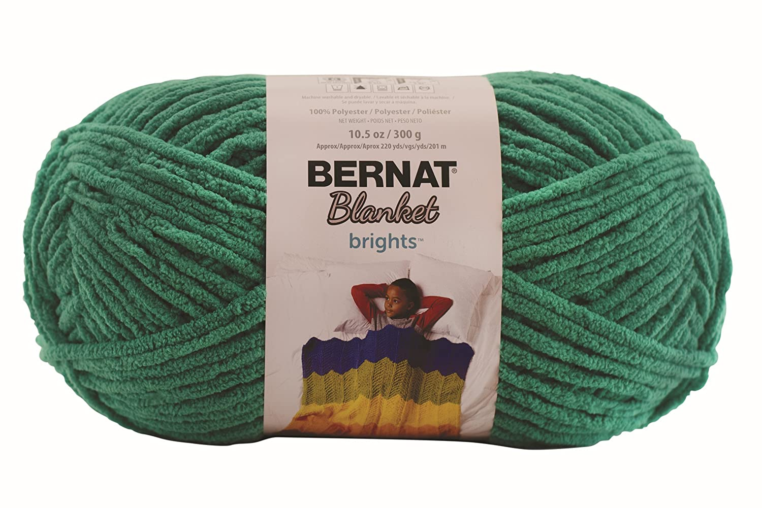 Bernat Blanket BrightsYarn - (6) Super Bulky Gauge - 10.5 oz - Busy Blue - Machine Wash & Dry 16121212005
