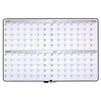 Amazon.com : Quartet Dry Erase Board, 4-Month Planner, 23 x 35 ...
