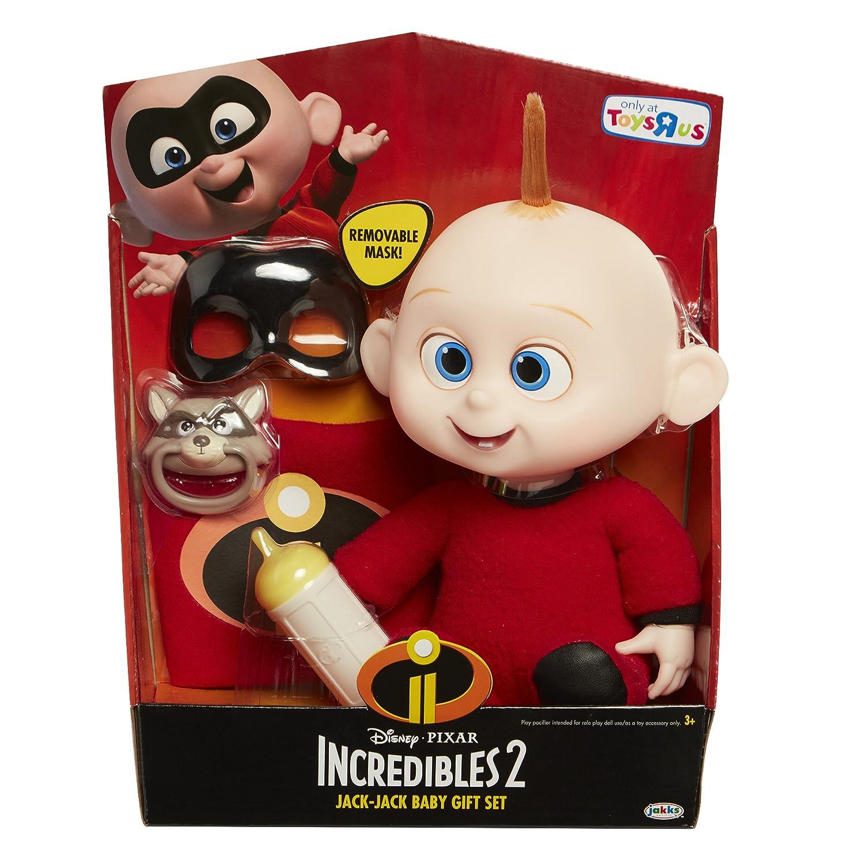 Amazon.com: Disney Pixar The Incredibles 2 Baby Jack-Jack Gift Set figure: Toys & Games
