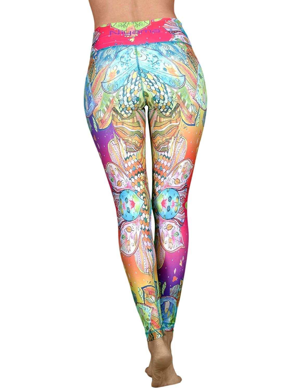 Hochwertige und Einzigartige High Waist Yogahose für Frauen - Haltbar und Strapazierfähige Damenschuhe Compression Leggings für Yoga, Pilates und Fitness.