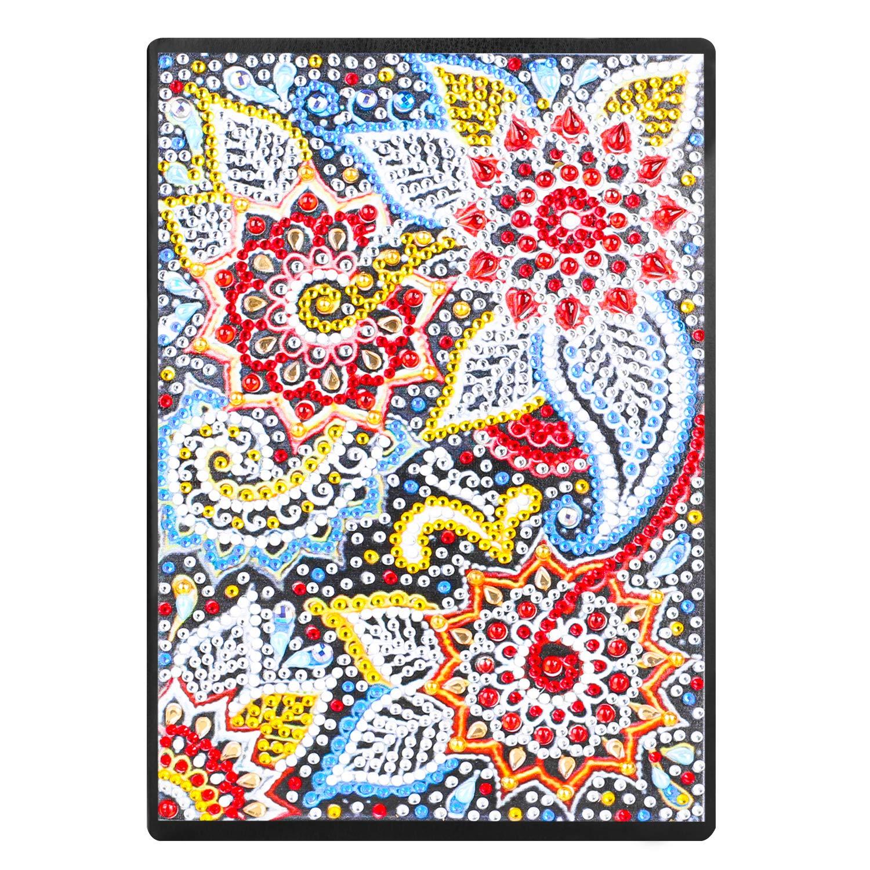 Kit fai da te per pittura con diamantini quaderni A5 a righe diario segreto bambina quaderno per schizzi blocco schizzi A5 con strass colorati 5D 60 fogli 120 pagine regalo creativo