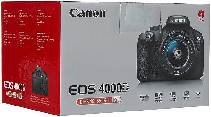 Canon EOS 4000D BK 18-55 IS EU26 Cuerpo de la cámara SLR 18 MP ...