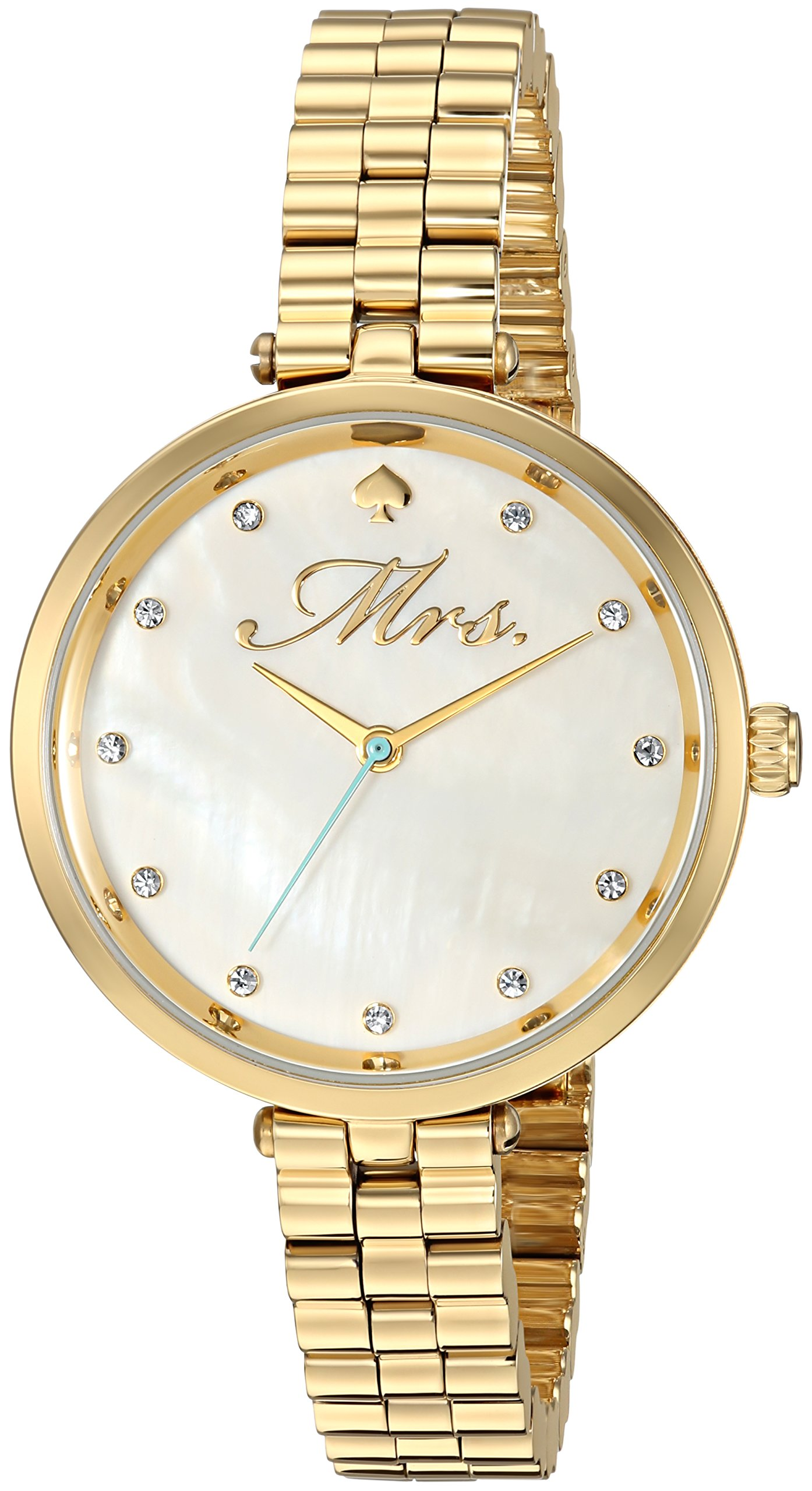 kate spade new york Women's 'Holland' Quartz Stainless Steel Casual Watch, Color:Gold-Toned (Model: KSW1351)