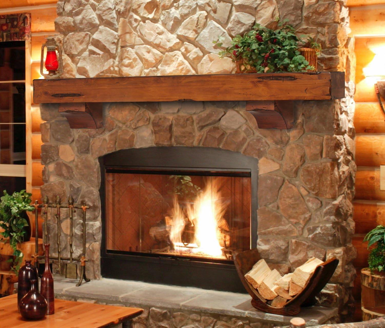 Amazon Com Pearl Mantels 412 60 50 Shenandoah Pine 60 Inch Fireplace Mantel Shelf Rustic Medium Home Improvement